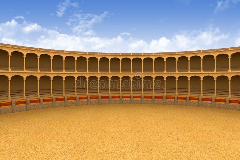Arena antigua del coliseo stock de ilustración
