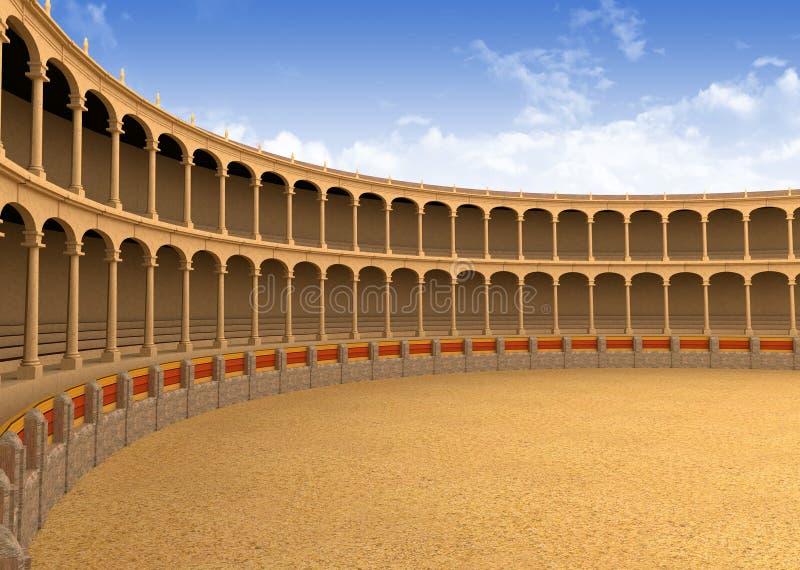Arena antigua del coliseo imágenes de archivo libres de regalías