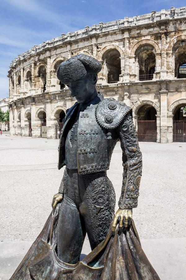 Arena av Nimes Frankrike arkivfoto