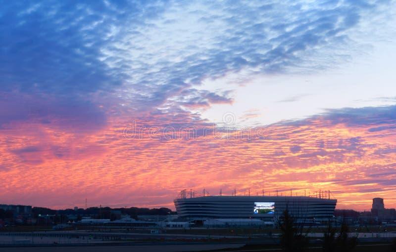Arena baltica, stadio di football americano, impianto sportivo fotografia stock