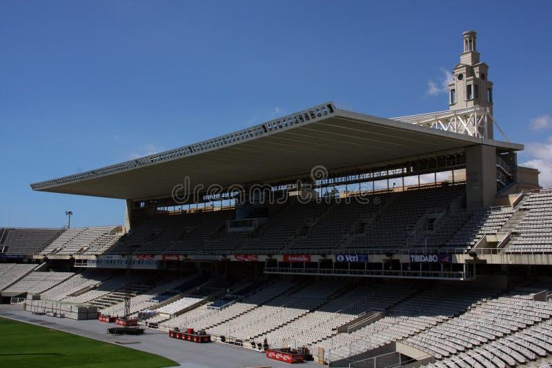 Arena Barcellona - tribuna con il tetto fotografia stock