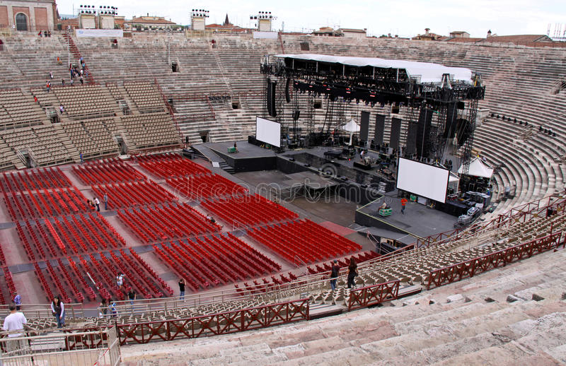 The Arena colosseum in Verona, Italy