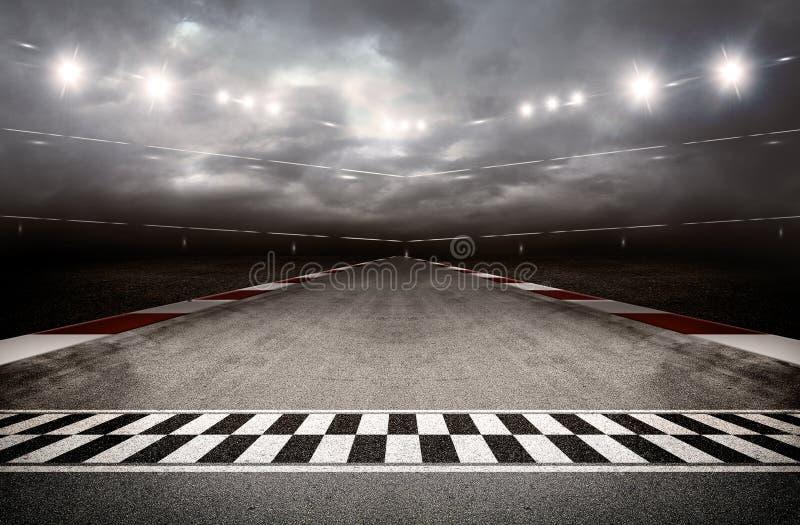 Arena 3d de la pista fotografía de archivo