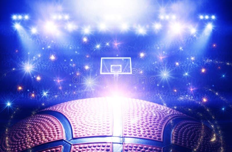 Arena 3d do basquetebol ilustração do vetor