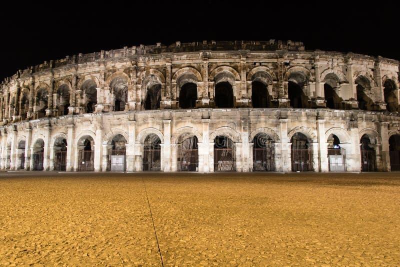 Arena da fachada de Nimes, Nimes, França foto de stock royalty free