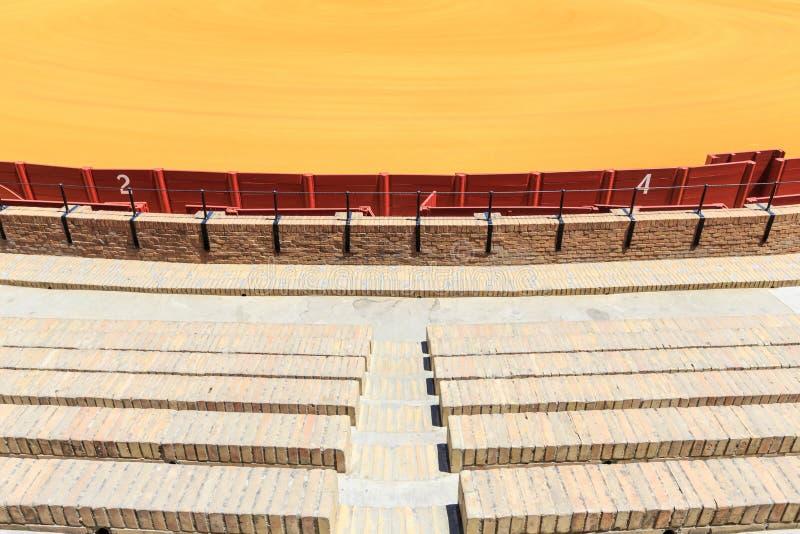Arena da tourada, plaza de toros em Sevilha, La Maestranza foto de stock