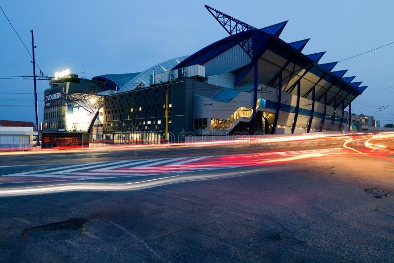 Arena DE ACERO, Kosice Eslovaquia imagenes de archivo