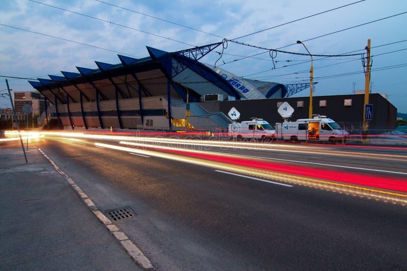 Arena DE ACERO, Kosice Eslovaquia foto de archivo