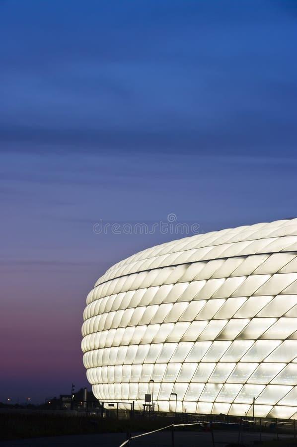 Arena de Allianz iluminada no branco fotografia de stock royalty free