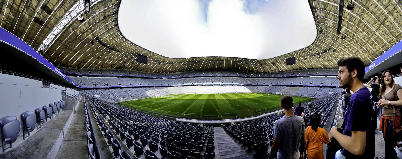 Arena de Allianz panorâmico fotografia de stock royalty free