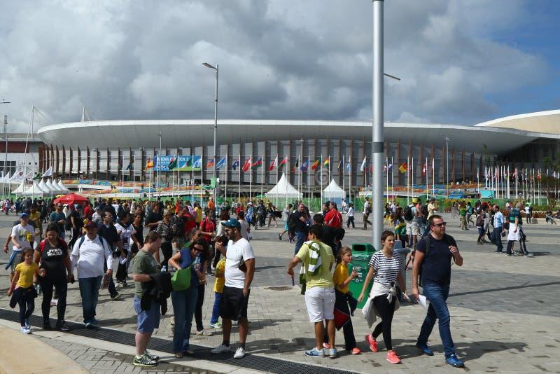 Arena 3 de Carioca no parque olímpico em Rio de janeiro fotos de stock