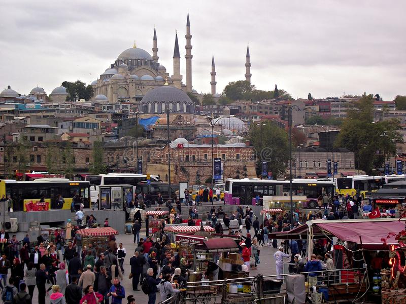 Arena de Eminonu, mesquita de Istambul Suleymaniye foto de stock royalty free