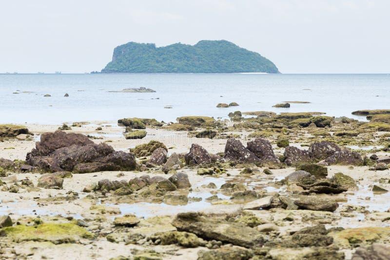 Arena de la isla y de la playa imágenes de archivo libres de regalías
