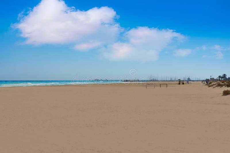 Arena de la playa de Canet de Berenguer en Valencia fotografía de archivo libre de regalías