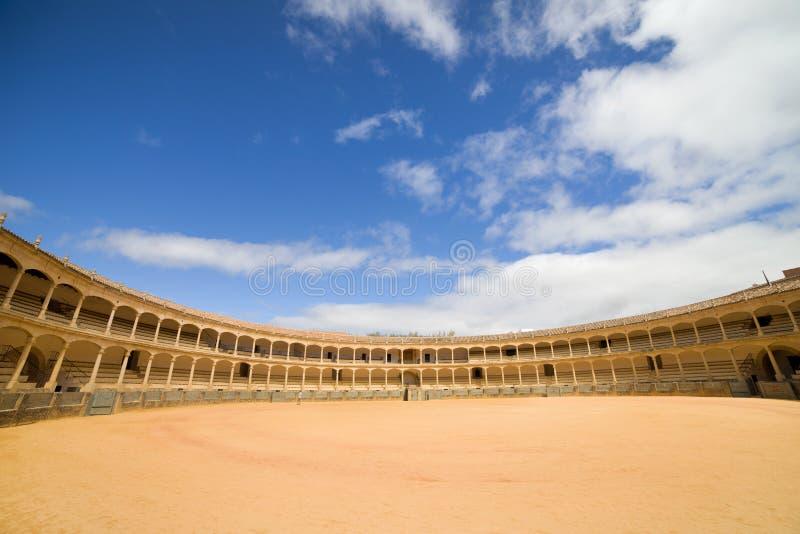 Arena de la tauromaquia de Ronda en España imagen de archivo