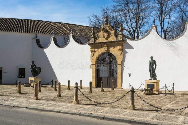 Arena de la tauromaquia en Ronda Spain fotografía de archivo