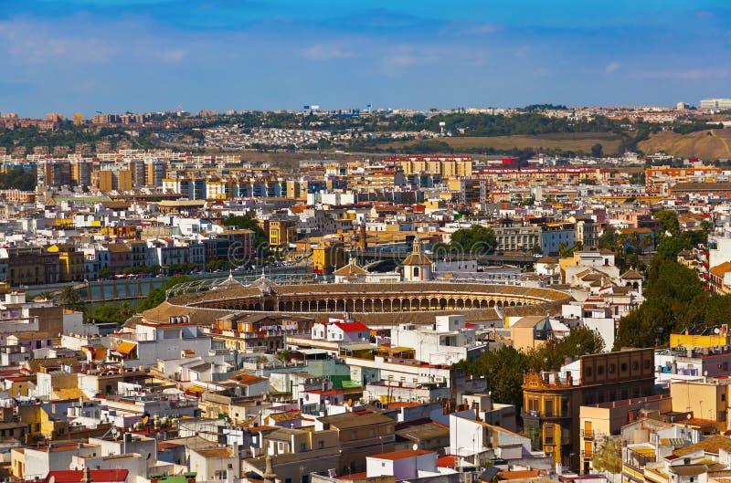 Arena de la tauromaquia en Sevilla España imagenes de archivo