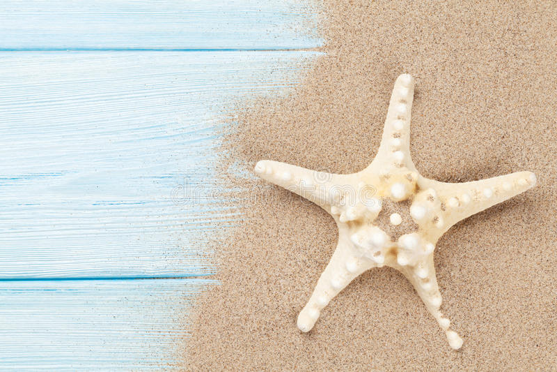 Arena de mar con las estrellas de mar imagen de archivo