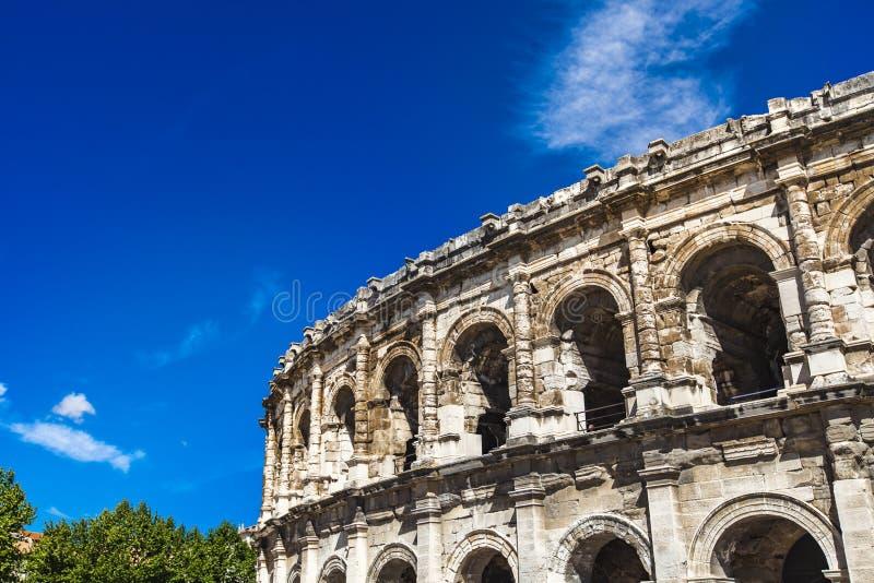 Arena de Nimes, anfiteatro romano em França foto de stock