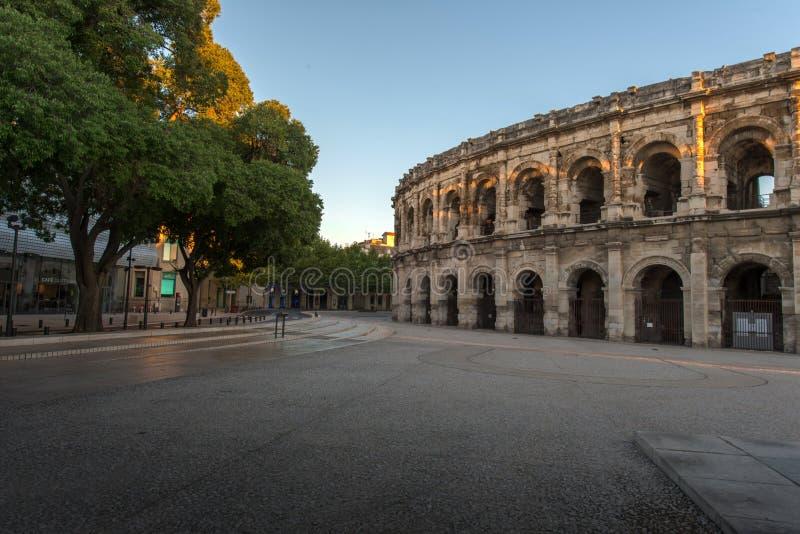 Arena de Nimes imagem de stock royalty free
