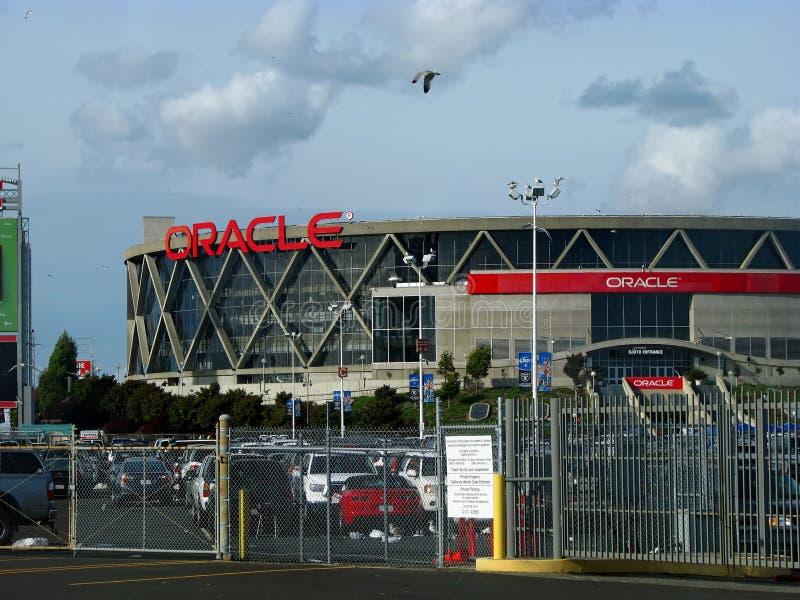 Arena de Oracle en Oakland imagen de archivo