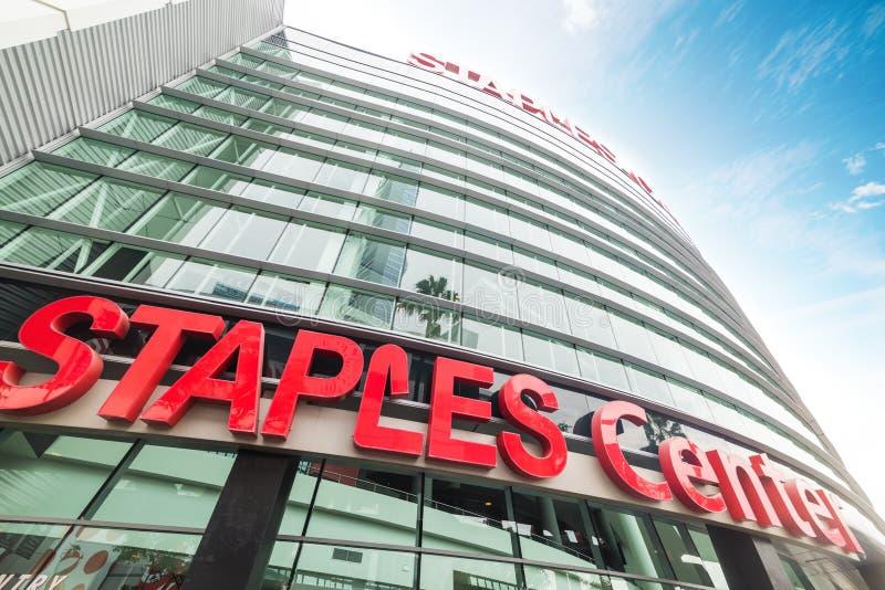 Arena de Staples Center en Los Ángeles céntrico fotos de archivo