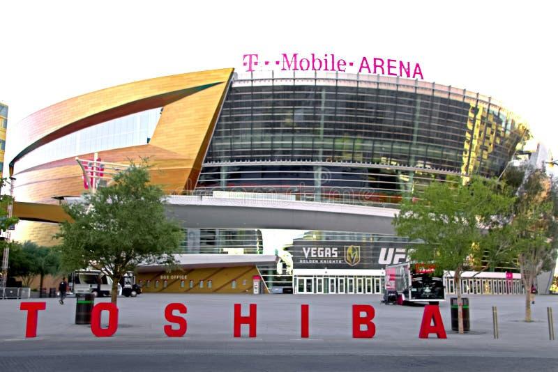 A arena de T-Mobile em Las Vegas fotos de stock