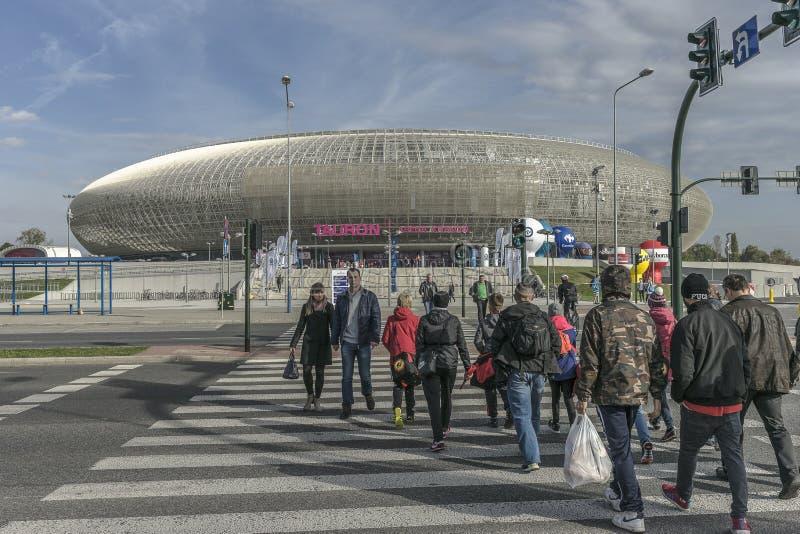 Arena de Tauron em Krakow, Polônia imagens de stock