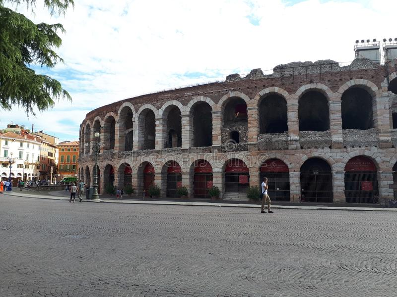 Arena de Verona imagens de stock