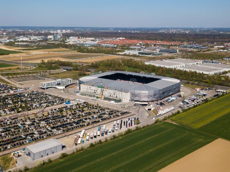 Arena de WWK - el estadio de f?tbol oficial del FC Augsburg foto de archivo libre de regalías