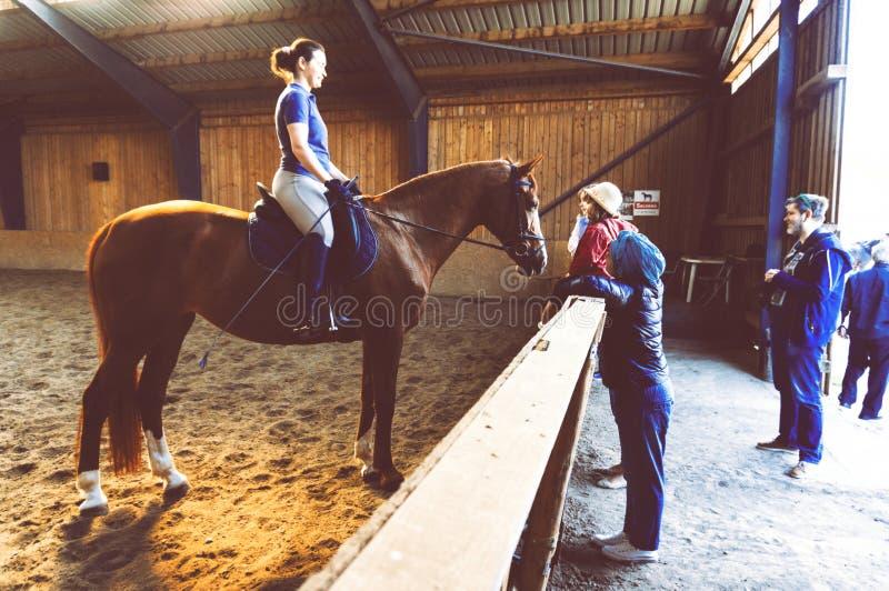 Arena del cavallo a Bucarest immagini stock libere da diritti