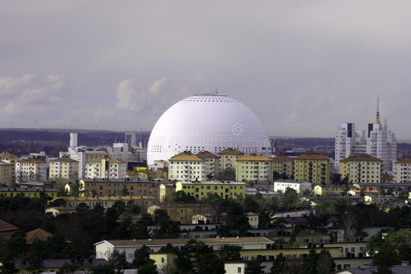Arena del globo di Stoccolma fotografie stock libere da diritti