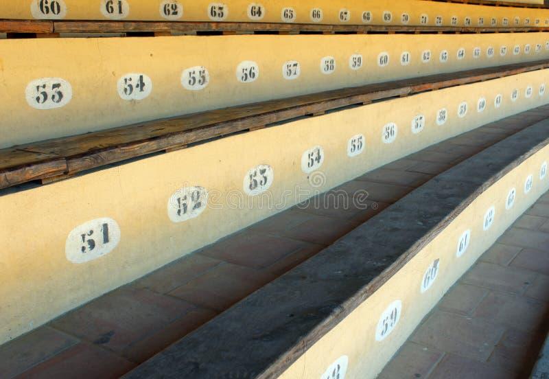 Arena della disposizione dei posti a sedere fotografia stock