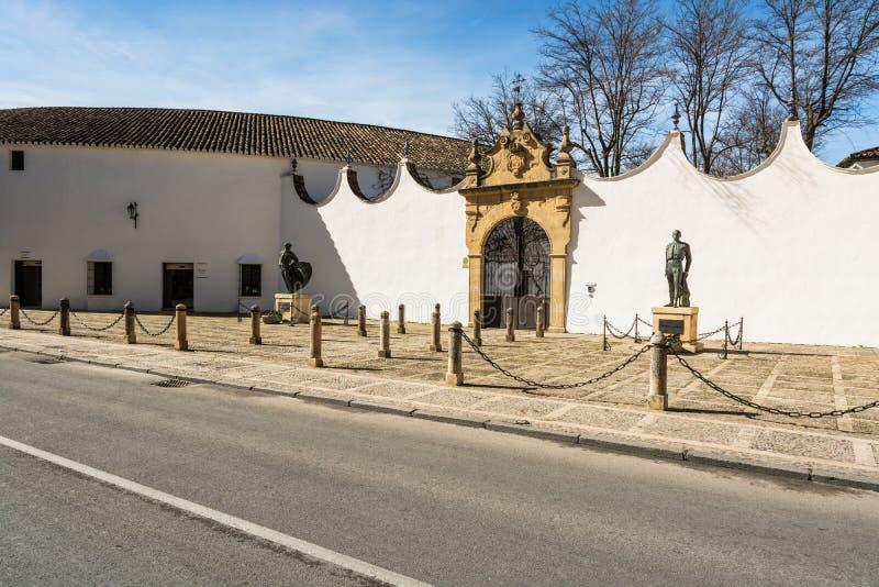 Arena della tauromachia in Ronda Spain fotografia stock libera da diritti