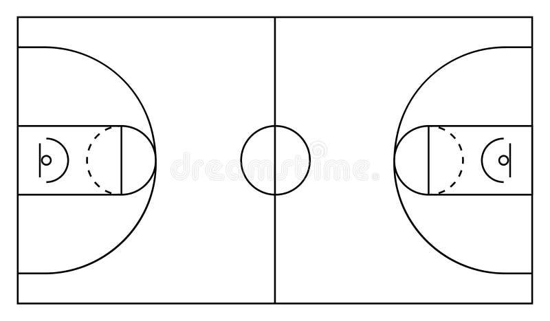 Arena di pallacanestro Priorità bassa bianca e nera Illustrazione ENV 10 di vettore royalty illustrazione gratis