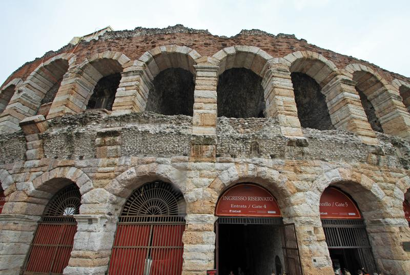 Arena di Verona. Ancient Roman arena is located on the main square of the town royalty free stock images