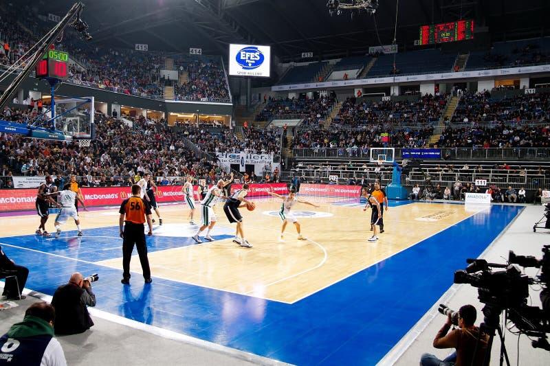 Arena do basquetebol imagens de stock royalty free