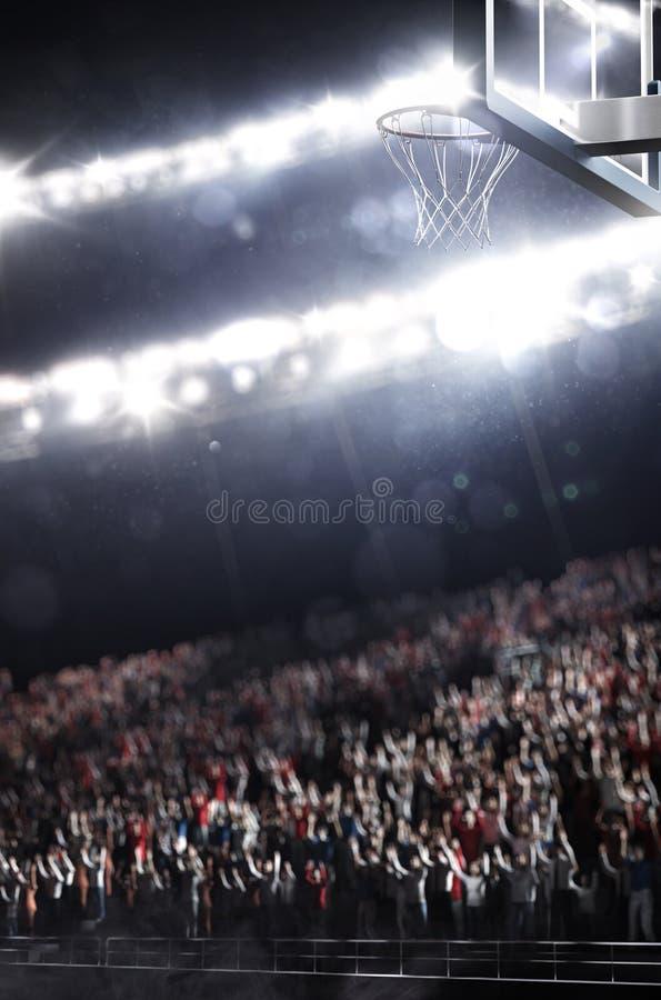 A arena do basquetebol rende fotografia de stock royalty free
