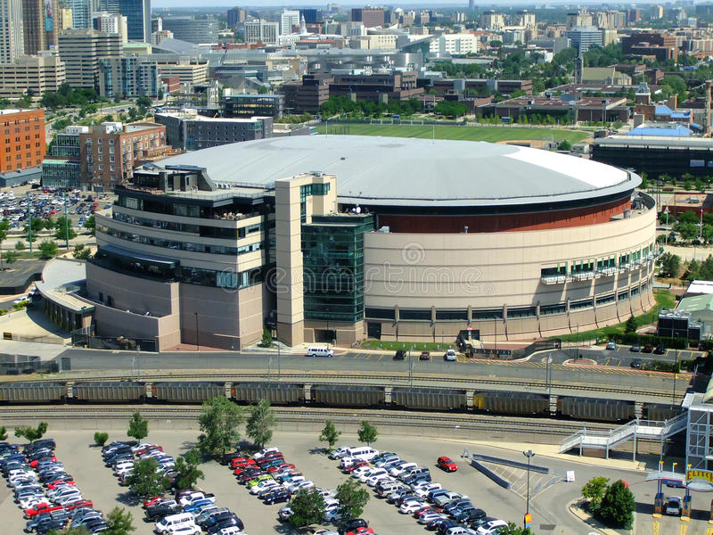Arena do centro de Pepsi em Denver, Colorado foto de stock royalty free