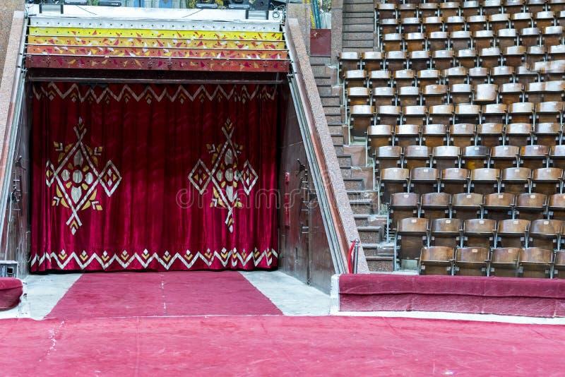 Arena do circo e salão vazio imagem de stock royalty free