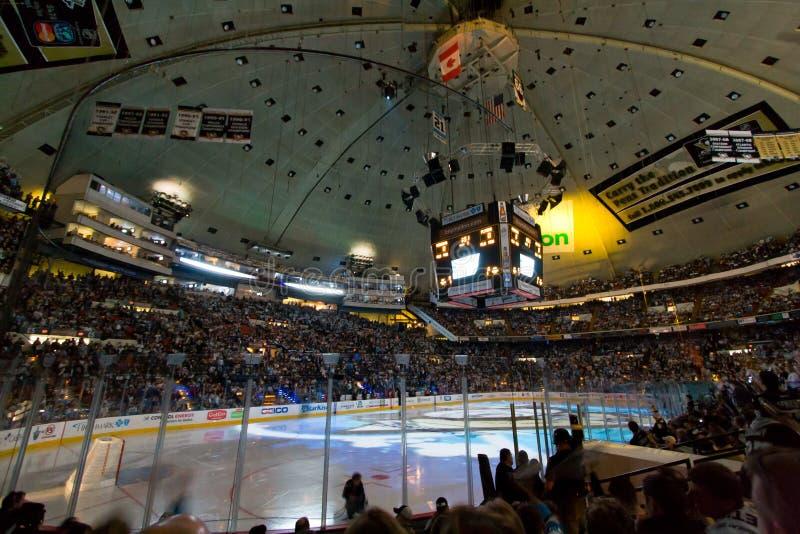 Arena do jogo de hóquei do NHL fotos de stock royalty free