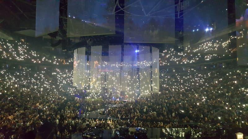 Arena do scotiabank de toronto do concerto do timberlake de Justin fotografia de stock