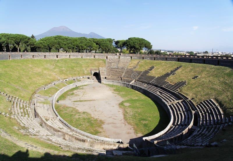 Arena dos Amphitheatres - Pompeii imagens de stock royalty free
