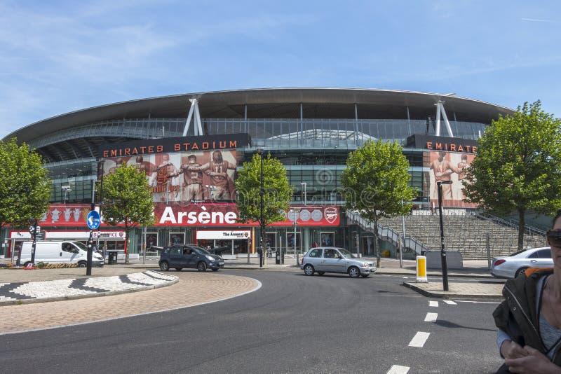 Arena dos emirados, Arsenal Stadium fotografia de stock