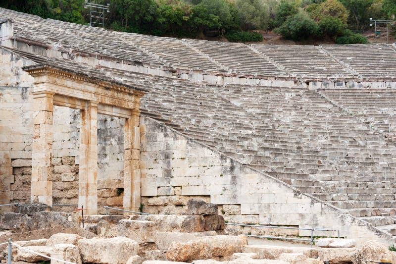 Arena in Epidavros lizenzfreies stockbild