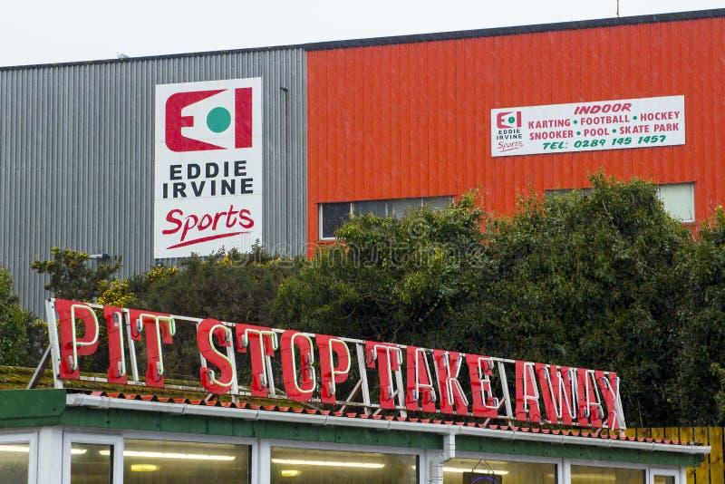 A arena esportiva interna de Eddie Irvine no condado de Bangor para baixo imagem de stock royalty free