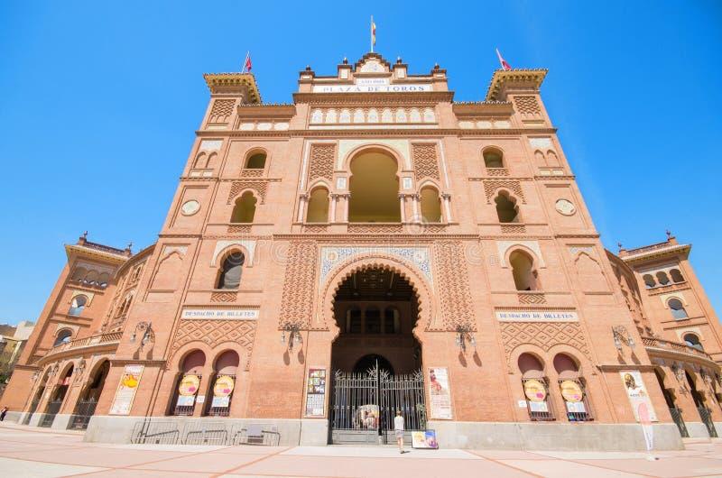 Arena famosa de la tauromaquia en Madrid Las Venta de toros de la plaza fotografía de archivo libre de regalías