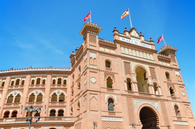Arena famosa de la tauromaquia en Madrid Las Venta de toros de la plaza fotografía de archivo