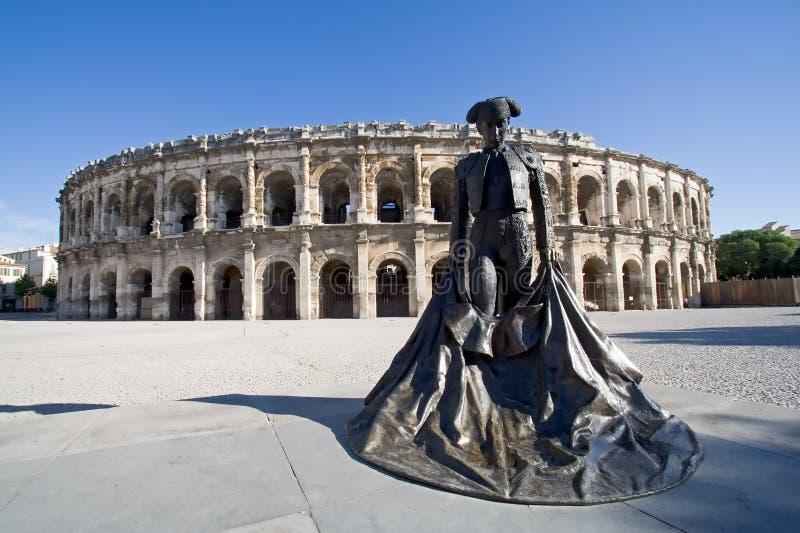 arena france nimes royaltyfria foton