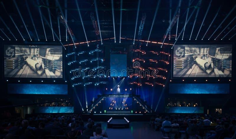 Arena hosting a gaming tournament royalty free stock photos
